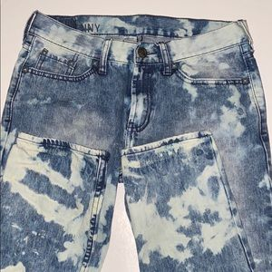 Hand Bleached Men's Skinny Jeans